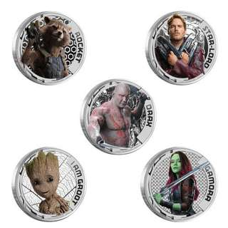 guardians of the galaxy silver coin