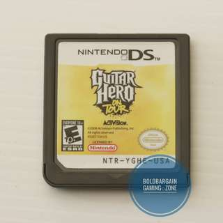 Authentic Guitar Hero on Tour Game Cartridge for Nintendo DS 3DS DSi Console