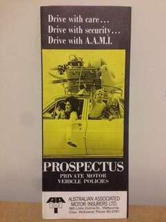 1960's AAMI Car Insurance Prospectus