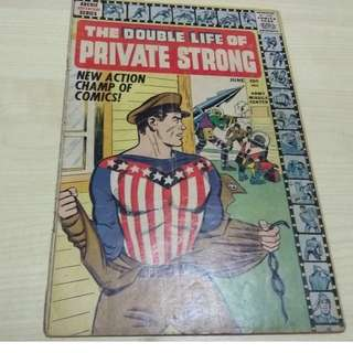 Double Life of Private Strong #1 - Rare late Golden Age!