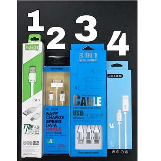 🔥 Premium Quality Universal Phone Cable 3in1 Huawei Type C / Iphone / Android