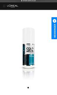 COLORISTA TEMPORARY SPRAY – TURQUOISE