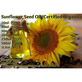 Sunflower Seed Oil (Certified Organic)