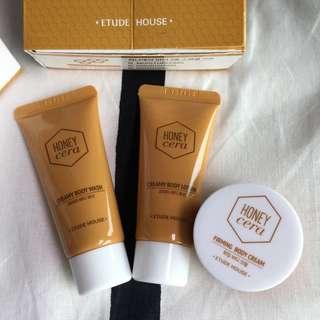 Etude House Honey cera body 3pcs special kit 🍯
