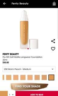 Fenty Beauty Foundation in Shade 250