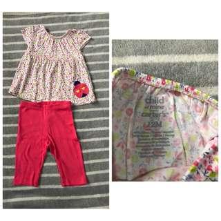 Carter's blouse and leggings