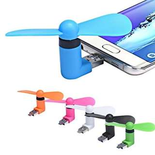 🔥 USB and Android 2in1 Attachment Super Strong Wind Fan KIpas MIni