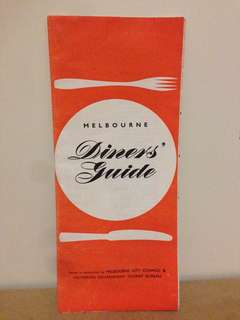 1956 Melbourne Diners Guide