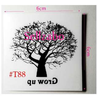 #T88 Fake Temporary Body Tattoo Stickers Washable Wash Off Print Sellzabo Black Colour Patterns Designs Tatoo Tatto Tattoo Trees Woods Branches Accessories