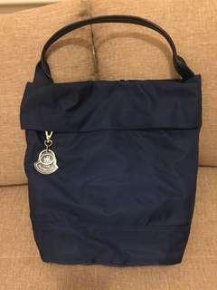 9成新 Moncler 深藍 Nylon Tote Bag