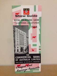 1966 Melbourne Show Guide CBA Bank