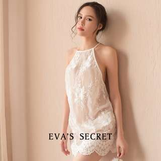 夏娃的祕密|本月新品|薄紗露肩性感睡衣|性感的入門款