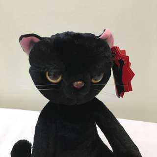 🚚 不爽黑貓娃娃