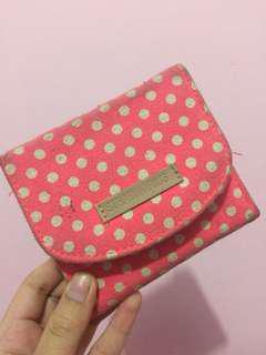 Stradivarius Pink Polkadot Wallet