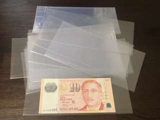 BRAND NEW -  Plastics Protectors [[ Customized Size ]] For Your Precious Banknotes