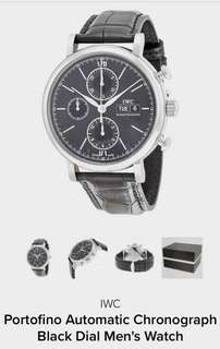 IWC Portofino Automatic Chronograph Black Dial Men's Watch