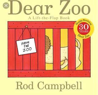 Dear Zoo by Rod Campbell book
