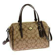 BNWT AUTHENTIC F49862 COACH PEYTON SIGNATURE BENNETT MINI SATCHEL