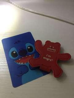 Stitch膠卡片、收耳機熊