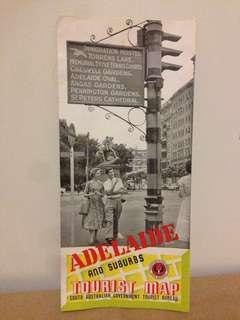 Vintage Adelaide Tourist Map