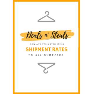 Deals n' Steals Shipment Rates