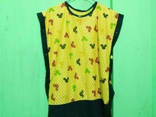 Yellow Mickey Mouse Blouse
