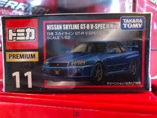 Tomica premium nissan gtr r34
