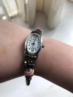 [購自日本]復古玫瑰花手錶