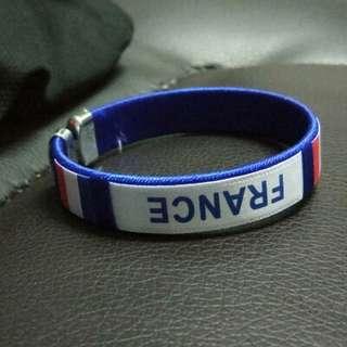 🚚 2018世界盃足球手環腕帶紀念品-法國