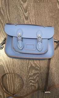 The Cambridge satchel mini blue purse