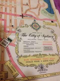 Vintage Sydney Tourist Map
