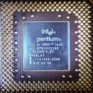 intel CPU pentium 166MMX