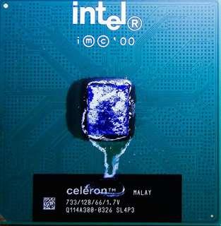 intel CPU celeron 733