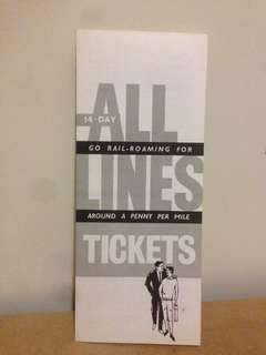 1960's All Lines Tickets Guide