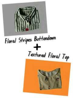 Floral Stripes Buttondown + Floral Blouse
