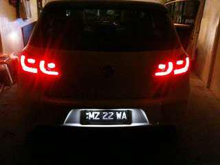 Vw golf mk6 LED number plate light