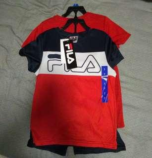 🚚 全新 FILA 運動套裝三件組 尺寸:7y