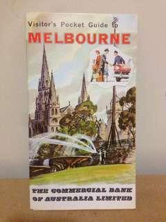 1960's Visitors Pocket Guide To Melbourne CBA Bank