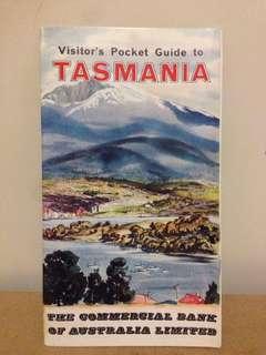 1960's Visitors Picket Guide To Tasmania CBA Bank