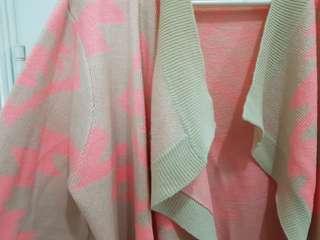 Tribal Printed/Aztec Printed Knitted Cardigan (Pink)