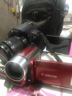 Canon EOS 650D and 41x canon zoom vid cam