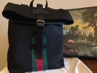 Gucci Techno Canvas Backpack