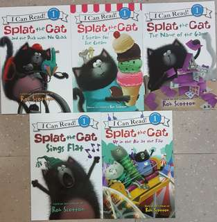 BN I Can Read! Level 1 Set A: Splat The Cat (5 books for $18)
