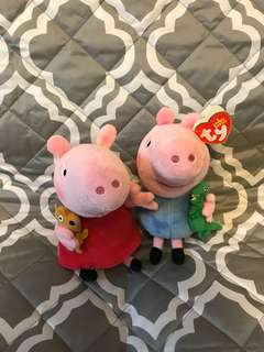PEPPA PIG AND GEORGE - The Beanie Buddies Collection (6 INCHES)