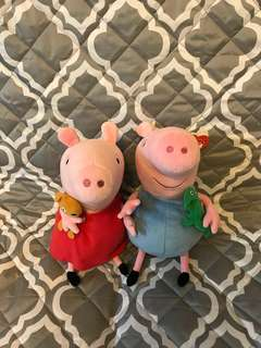 PEPPA PIG AND GEORGE - The Beanie Buddies Collection (9 INCHES)