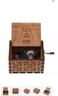 Star Wars Engraved Wooden Music Box Starwars
