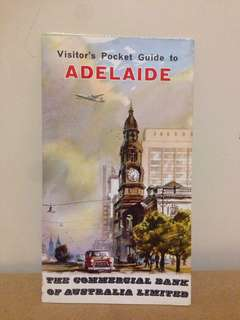 1960s Visitors Guide To Adelaide CBA Bank