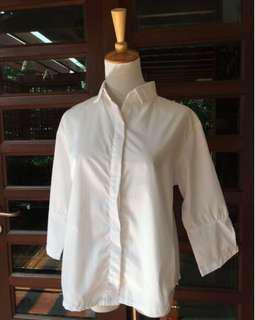 *MONO.KL* White Collared Shirt