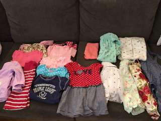 Baby girl size 6-9 clothing
