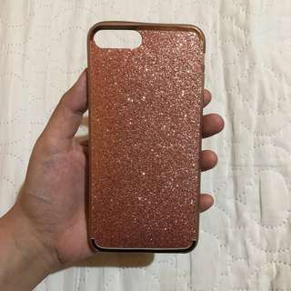 Iphone 7 plus case - PINK GLITTERS